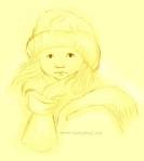 Girl in winter gear illustration by Nancy Ball