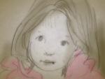 Wonder - little girl illustration by Nancy Ball